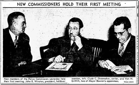 Nov. 2, 1938, Police Commisison