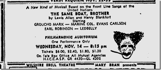 Nov. 11, 1945, Groucho