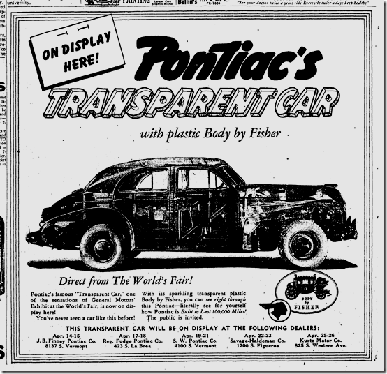 April 13, 1941, Transparent Car