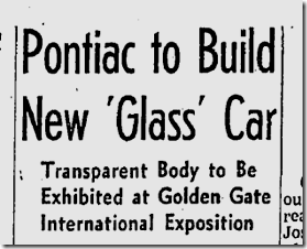 April 28, 1940, Glass Car