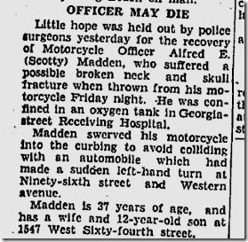 June 16, 1935, Officer Madon
