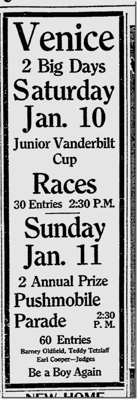 Jan. 10, 1914, Auto Races