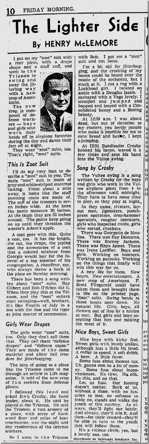 Feb. 6, 1942, Zoot Suit