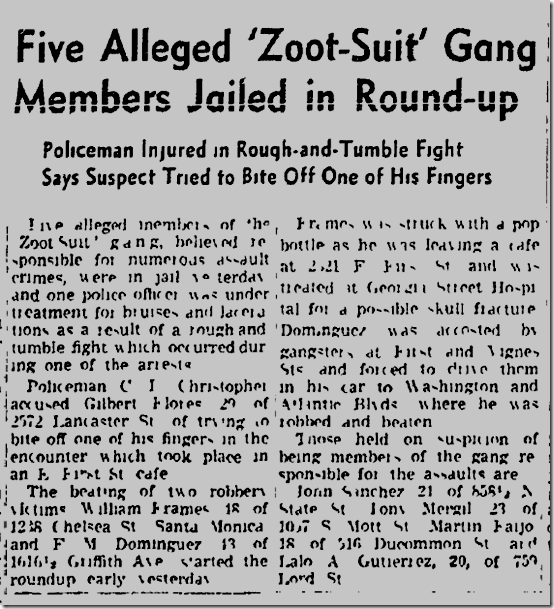 Oct. 18, 1942, Zoot Suits