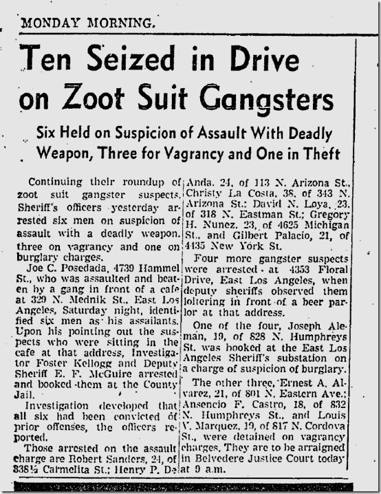 Nov. 2, 1942, Zoot Suits