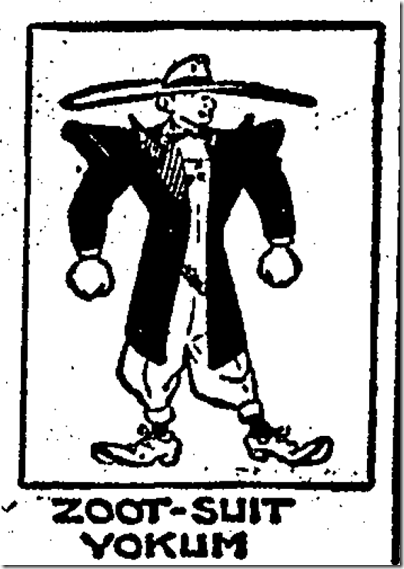 "zoot suit riot essay Free essay: zoot suits, associated with the mexican race, consisted of a long jacket that reached almost to the knees, pants with a ""tight stuff cuff"", a."