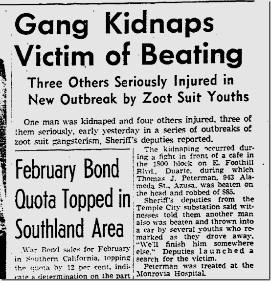 March 8, 1943, Zoot Suits