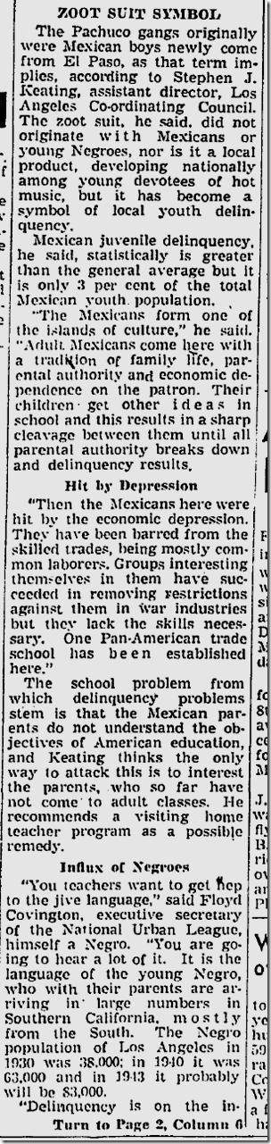 April 20, 1943, Zoot Suits