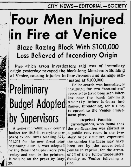May 12, 1943, Zoot Suits