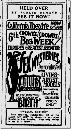 July 24, 1932, Sex Mysteries