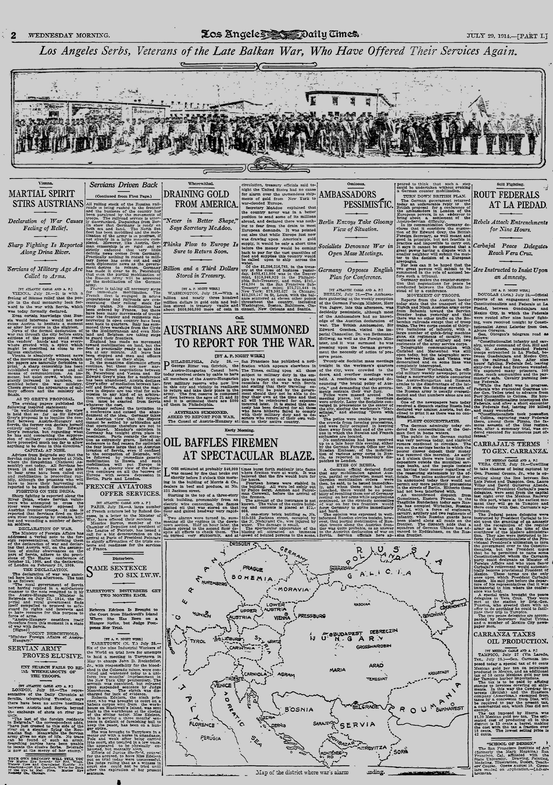 Russia to Invade Austria: July 29, 1914