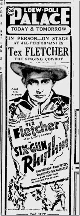 July 21, 1939, Tex Fletcher