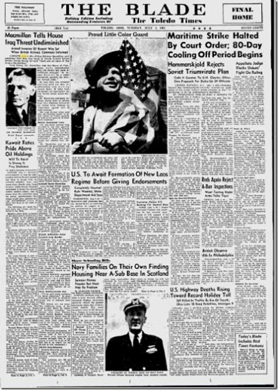 July 4, 1961, Toledo Blade