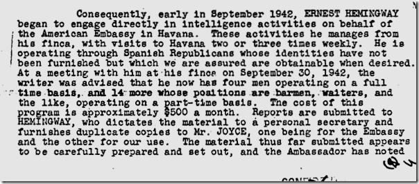 Hemingway FBI file, Page 3