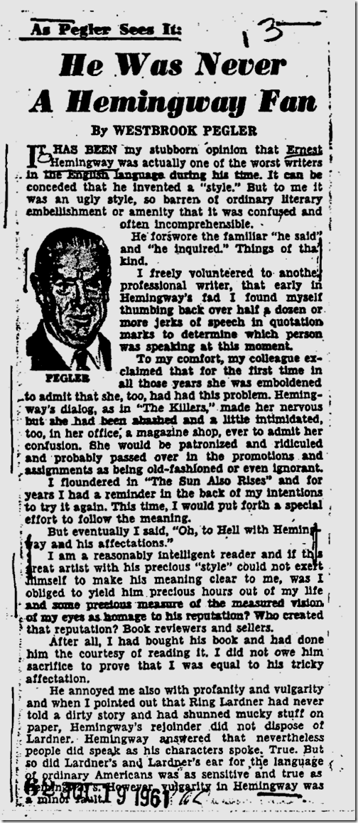 Hemingway FBI file, Page 111