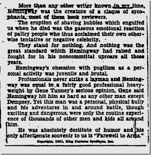 Hemingway FBI file, Page 112