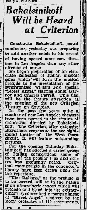 Aug. 14, 1928, Bakaleinikoff