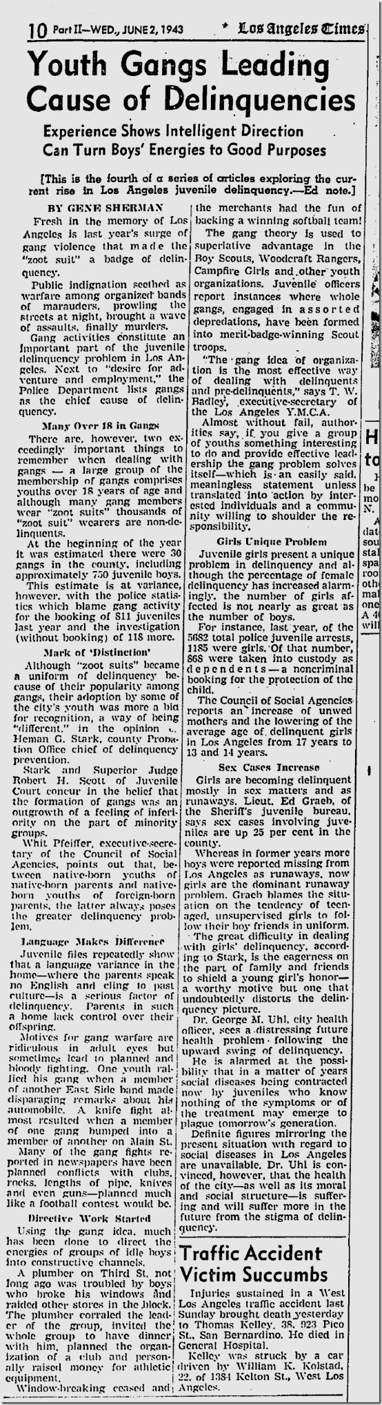June 2, 1943, Zoot Suits
