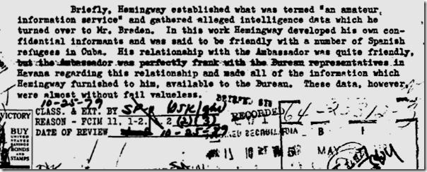 Hemingway FBI file, Page 17