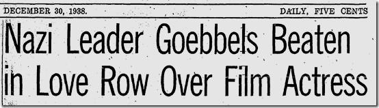 Dec. 30, 1938, Baarova Goebbels