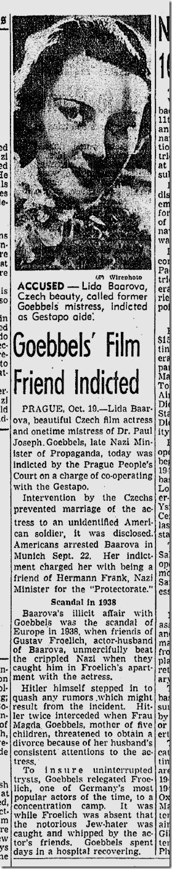 Oct. 20, 1945, Lida Baarova