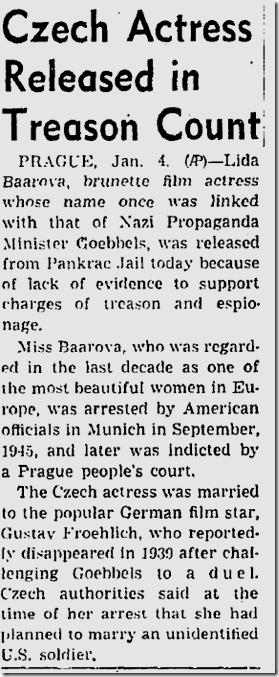 Jan. 5, 1947, Lida Baarova