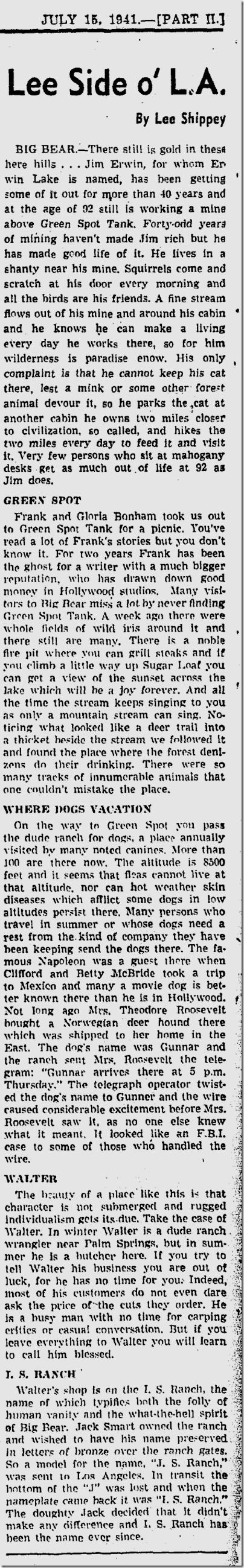 July 15, 1941, Lee Shippey