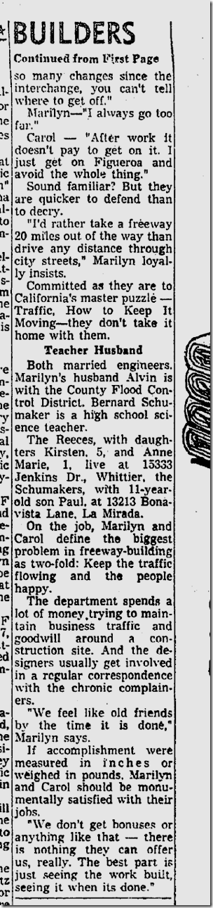 April 6, 1964, Marilyn Reece