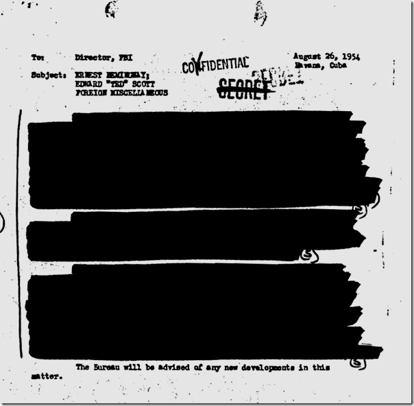 Hemingway FBI file, Page 97