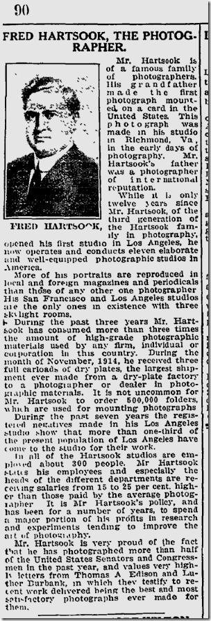 Fred Hartsook, Jan. 1, 1916