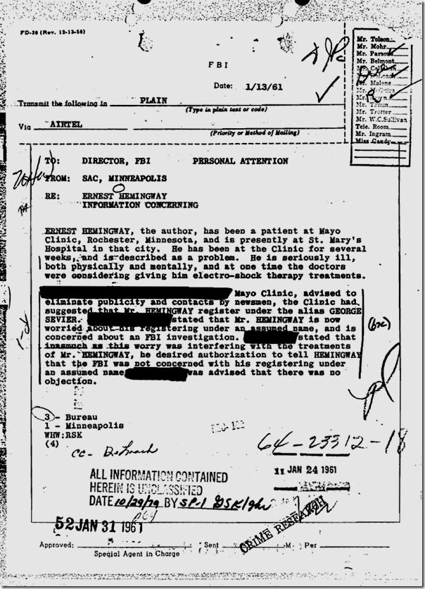 Hemingway FBI file, Page 110