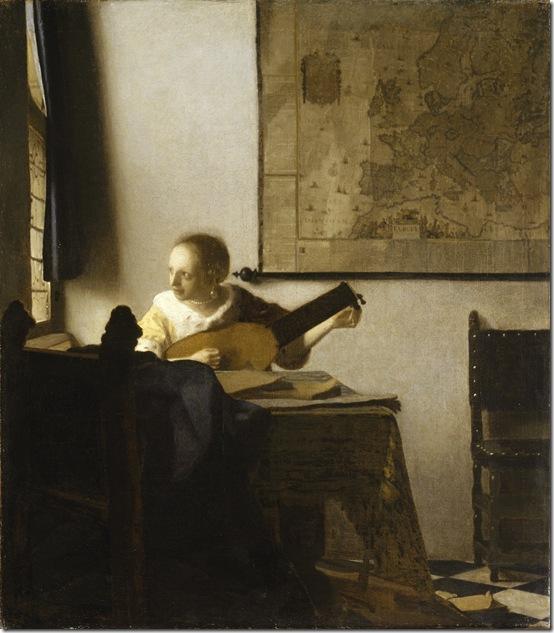 """Vermeer """"Woman With Lute"""""""