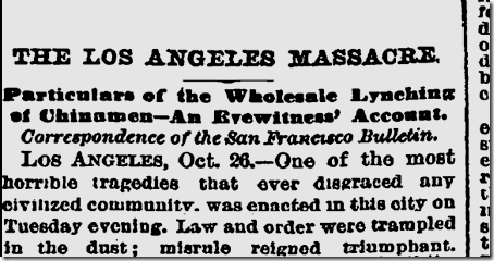 Oct. 26, 1871, Chinese Massacre