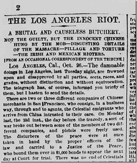 Oct. 26, 1871, Chinese Massacre