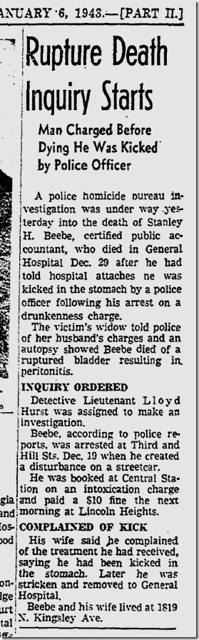 Jan. 6, 1943, Beebe case