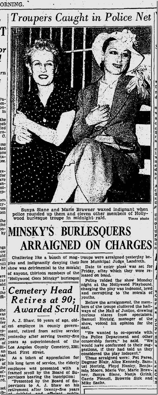 Aug. 12, 1936, Minsky's Goes Hollywood