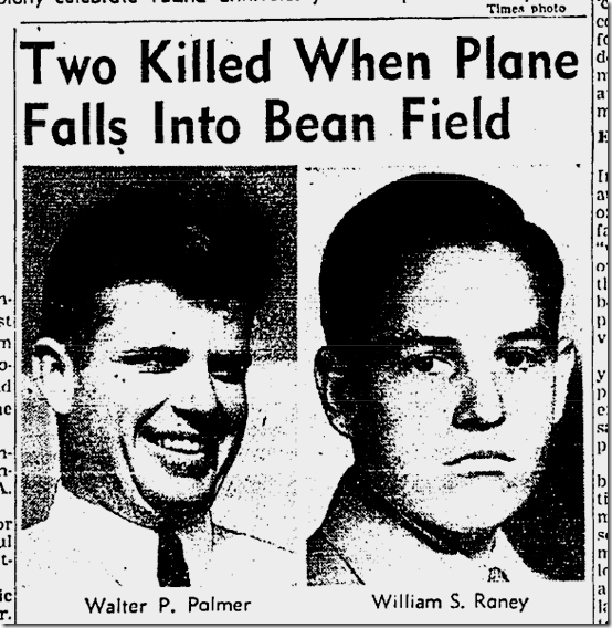Aug. 11, 1941, Plane Crash