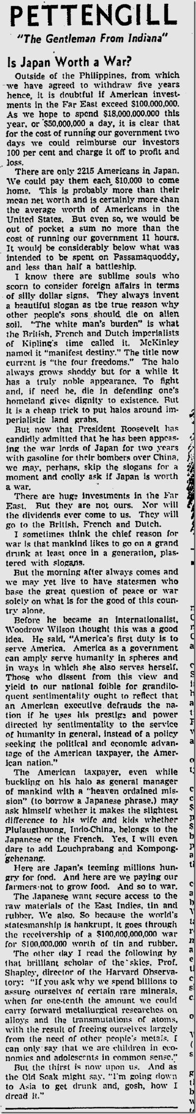 Aug. 11, 1941, Pettengill
