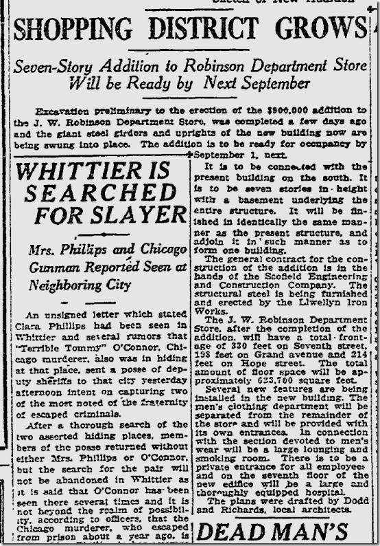 Jan. 11, 1923, Robinson's