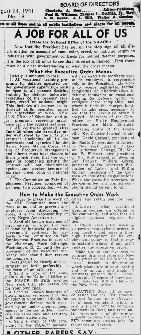 Aug. 14, 1941, Job bias