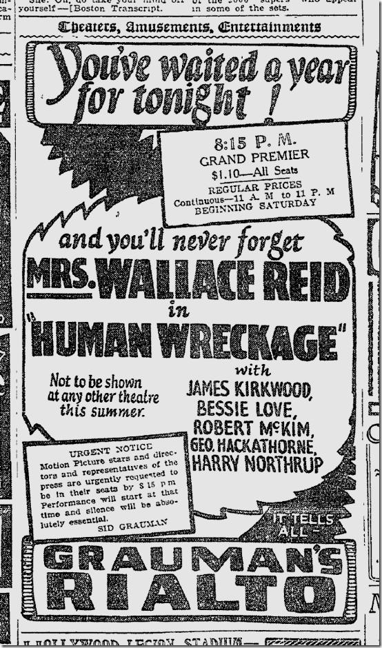 "July 6, 1923, ""Human Wreckage"""