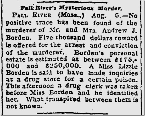 Aug. 6, 1892, Lizzie Border