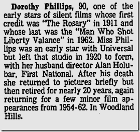 Dorothy Phillips dies, March 10, 1980