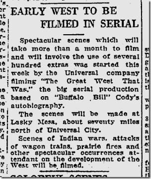April 15, 1926, Lasky Mesa