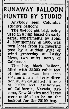 May 18, 1946, Lasky Mesa