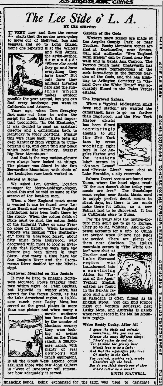 April 10, 1933, Lasky Mesa
