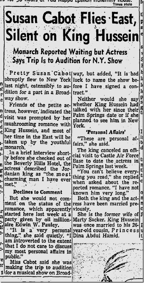 April 13, 1959, Susan Cabot