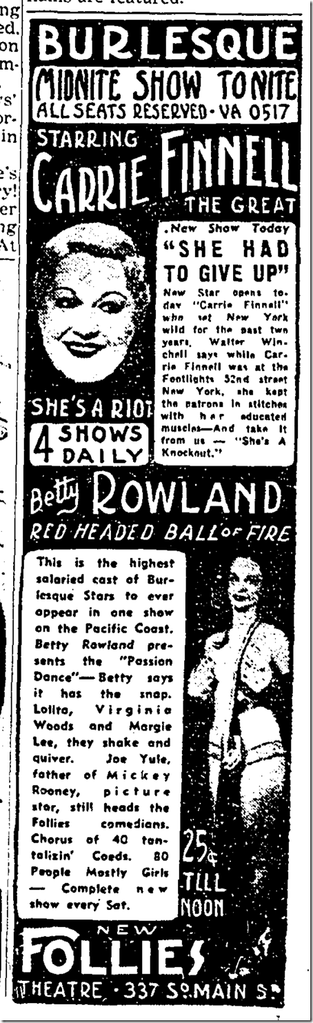 July 30, 1938, Carrie Finnell