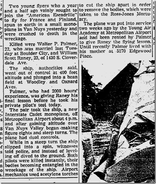 Aug. 11, 1941, Plane Crash