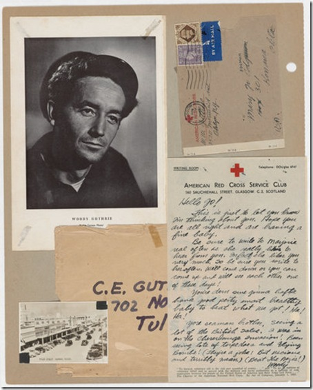 Photo: A page of Woody Guthrie's scrapbooks. Credit: Robin Carson, the Woody ...